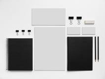 Πρότυπο εμπορικών σημάτων προτύπων με τις επαγγελματικές κάρτες και Στοκ Εικόνες