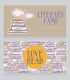 Πρότυπο επαγγελματικών καρτών για το στρατόπεδο βιβλίων ελεύθερη απεικόνιση δικαιώματος