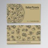 Πρότυπο επαγγελματικών καρτών Pizzeria Στοκ φωτογραφίες με δικαίωμα ελεύθερης χρήσης