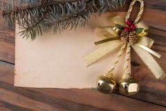 Πρότυπο επιθυμιών και χαιρετισμών Χριστουγέννων Στοκ Εικόνες