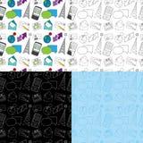 πρότυπο επικοινωνίας doodle άνευ ραφής Απεικόνιση αποθεμάτων