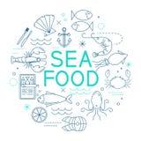 Πρότυπο επιλογών εστιατορίων θαλασσινών ελεύθερη απεικόνιση δικαιώματος