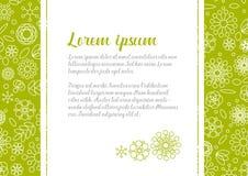 Πρότυπο επιστολών αγάπης με το floral υπόβαθρο Στοκ Εικόνες