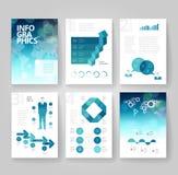 Πρότυπο επιχειρησιακών φυλλάδιων με το infographics διανυσματική απεικόνιση