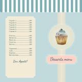 Πρότυπο επιλογών βιομηχανιών ζαχαρωδών προϊόντων με το watercolor Στοκ εικόνα με δικαίωμα ελεύθερης χρήσης