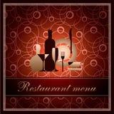 πρότυπο εστιατορίων καταλόγων επιλογής πολυτέλειας φ Στοκ Φωτογραφίες