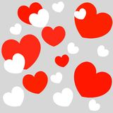 πρότυπο εστιατορίων σχεδίου έννοιας Καρδιά για την ημέρα βαλεντίνων διανυσματική απεικόνιση