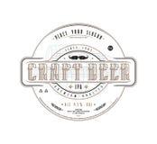Πρότυπο ετικετών μπύρας τεχνών στο εκλεκτής ποιότητας ύφος απεικόνιση αποθεμάτων