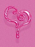 Πρότυπο ευχετήριων καρτών καρδιών Στοκ Φωτογραφία