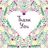 Πρότυπο ευχετήριων καρτών στην καρδιά λουλουδιών στο άσπρο υπόβαθρο διανυσματική απεικόνιση