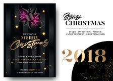 Πρότυπο ευχετήριων καρτών Χαρούμενα Χριστούγεννας απεικόνιση αποθεμάτων