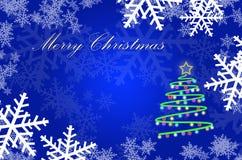 Πρότυπο ευχετήριων καρτών Χριστουγέννων με το διάστημα διανυσματική απεικόνιση