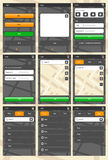 Πρότυπο εφαρμογής Ιστού για τα τηλέφωνα Στοκ Εικόνα