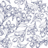 πρότυπο ελιών άνευ ραφής Στοκ φωτογραφίες με δικαίωμα ελεύθερης χρήσης