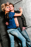 Πρότυπο ζεύγος μόδας αρσενικών/ανδρών και θηλυκών/γυναικών Στοκ Φωτογραφία