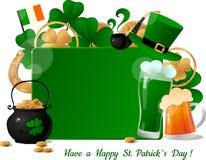 Πρότυπο ημέρας του ST Patricks διανυσματική απεικόνιση