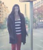 Πρότυπο θηλυκό μόδας Στοκ εικόνες με δικαίωμα ελεύθερης χρήσης
