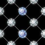 πρότυπο διαμαντιών άνευ ραφής επίσης corel σύρετε το διάνυσμα απεικόνισης Στοκ Εικόνα