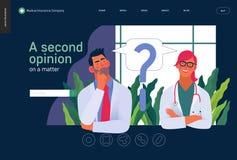 Πρότυπο ιατρικής ασφάλειας - δεύτερη άποψη διανυσματική απεικόνιση