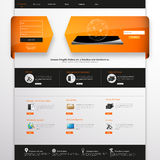 Πρότυπο ιστοχώρου για την επιχείρησή σας, eps 10 διανυσματική απεικόνιση, Στοκ Φωτογραφία