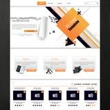 Πρότυπο ιστοχώρου για την επιχειρησιακή παρουσίαση με το αφηρημένο σχέδιο επίσης corel σύρετε το διάνυσμα απεικόνισης Στοκ εικόνα με δικαίωμα ελεύθερης χρήσης