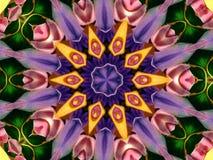 πρότυπο καλειδοσκόπιων λουλουδιών ελεύθερη απεικόνιση δικαιώματος