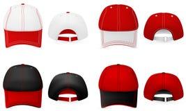Πρότυπο καπέλων μπέιζ-μπώλ. Στοκ Εικόνες