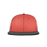 Πρότυπο καπέλων του μπέιζμπολ στο άσπρο υπόβαθρο Στοκ Φωτογραφία