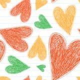 πρότυπο καρδιών άνευ ραφής διανυσματικός τρύγος αγάπης απεικόνισης ανασκόπησης wallpape Ημέρα βαλεντίνου, ημέρα της μητέρας, γάμο στοκ εικόνες με δικαίωμα ελεύθερης χρήσης
