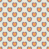 πρότυπο καρδιών άνευ ραφής Μοντέρνο υπόβαθρο βαλεντίνων Στοκ φωτογραφία με δικαίωμα ελεύθερης χρήσης