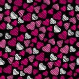 πρότυπο καρδιών άνευ ραφής Στοκ Εικόνες