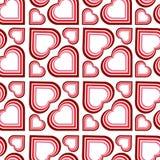 πρότυπο καρδιών αναδρομι&kapp διανυσματική απεικόνιση