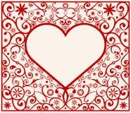 πρότυπο καρδιών πλαισίων Στοκ Φωτογραφίες