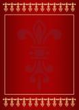 πρότυπο καρτών βασιλικό Στοκ Εικόνες