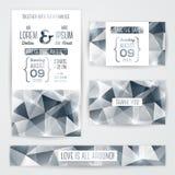 Πρότυπο καρτών γαμήλιας πρόσκλησης με την περίληψη Στοκ εικόνες με δικαίωμα ελεύθερης χρήσης