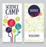 πρότυπο καρτών για το στρατόπεδο επιστήμης απεικόνιση αποθεμάτων