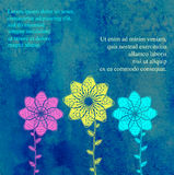 Πρότυπο καρτών για το σχέδιο Στοκ Εικόνες