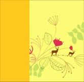 πρότυπο καρτών κίτρινο Στοκ Εικόνες