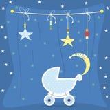 Πρότυπο καρτών πρόσκλησης ντους μωρών Στοκ φωτογραφία με δικαίωμα ελεύθερης χρήσης