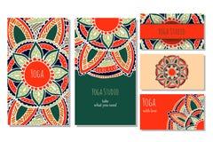 Πρότυπο καρτών στούντιο γιόγκας Στοκ Εικόνα