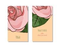 Πρότυπο καρτών στούντιο γιόγκας Στοκ Φωτογραφίες