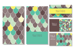 Πρότυπο καρτών στούντιο γιόγκας Στοκ εικόνες με δικαίωμα ελεύθερης χρήσης