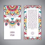 Πρότυπο καρτών Mandala Στοκ Φωτογραφία
