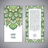 Πρότυπο καρτών Mandala Στοκ Εικόνα
