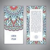 Πρότυπο καρτών Mandala Στοκ Φωτογραφίες