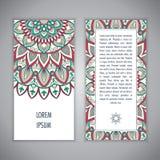 Πρότυπο καρτών Mandala Στοκ εικόνα με δικαίωμα ελεύθερης χρήσης