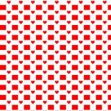 πρότυπο καρδιών άνευ ραφής Διάνυσμα που επαναλαμβάνει τη σύσταση Στοκ Φωτογραφία