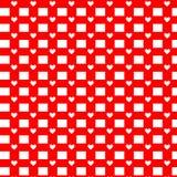 πρότυπο καρδιών άνευ ραφής Διάνυσμα που επαναλαμβάνει τη σύσταση Στοκ Εικόνα