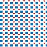 πρότυπο καρδιών άνευ ραφής Διάνυσμα που επαναλαμβάνει τη σύσταση Στοκ εικόνες με δικαίωμα ελεύθερης χρήσης