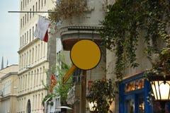 Πρότυπο καταστημάτων οδών και πινακίδα, κενό για το σχέδιό σας στοκ φωτογραφίες